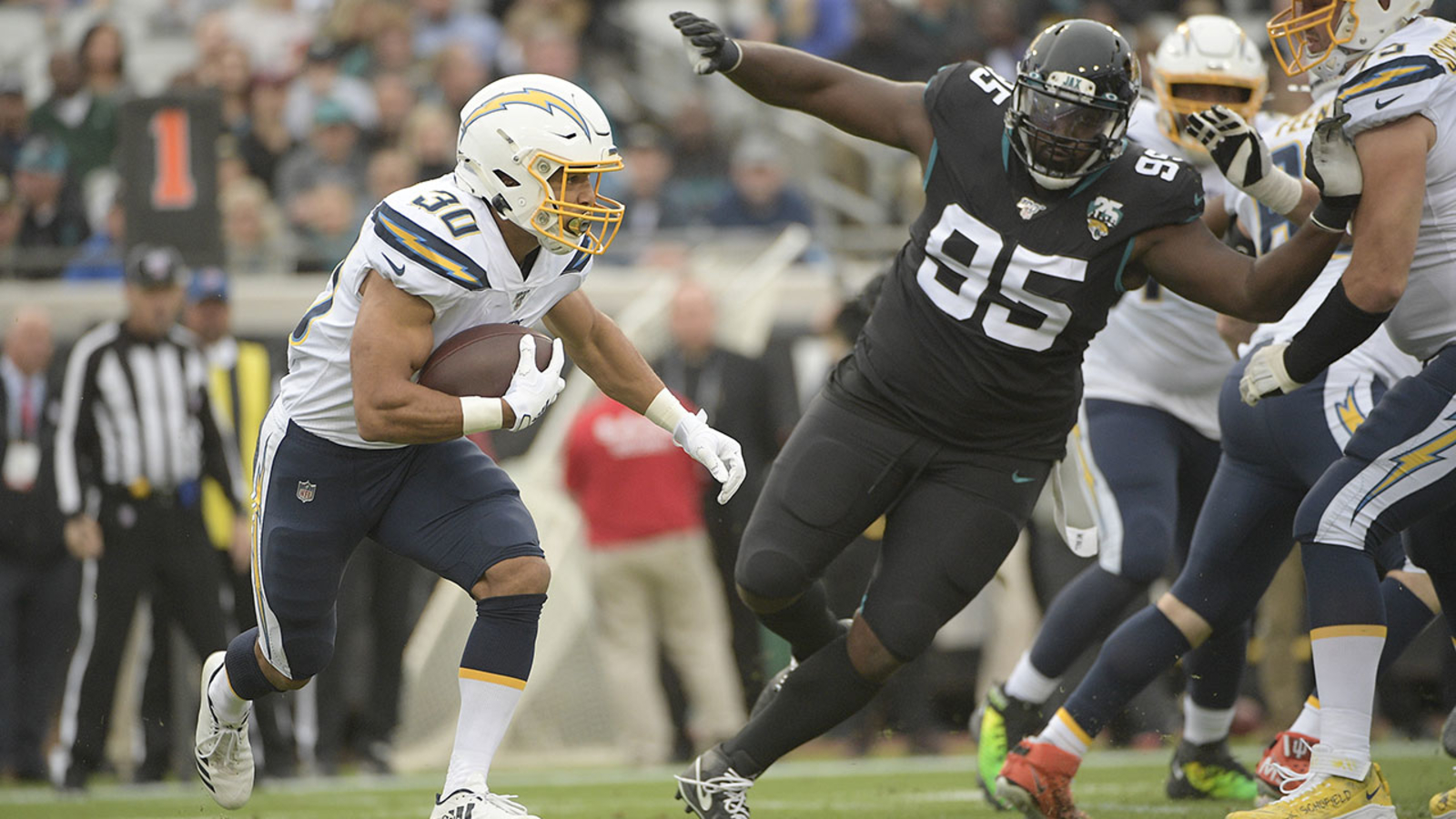 Chargers take down Jaguars 45-10