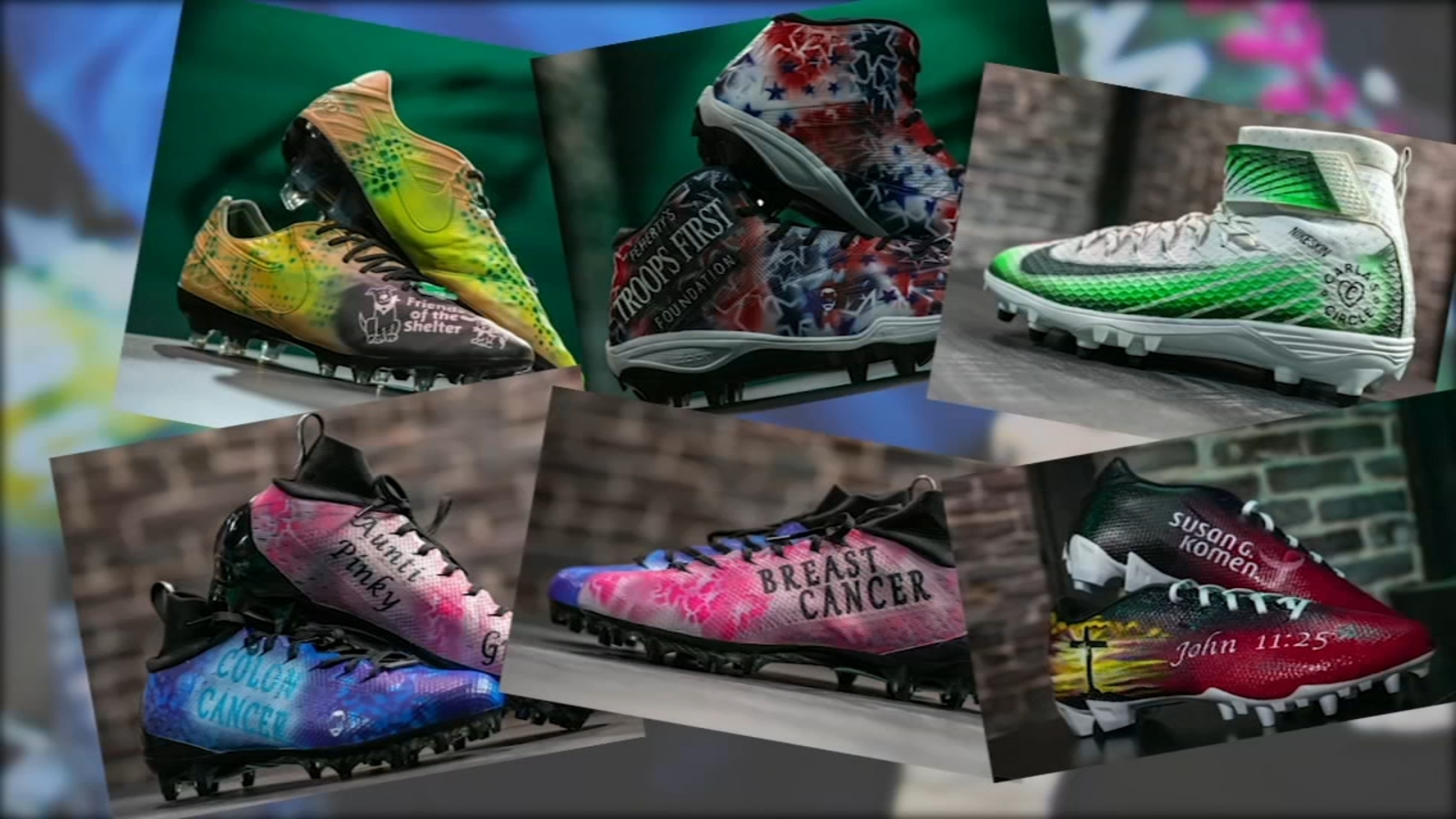 Eagles put best foot forward with specialty cleats on MNF for charity