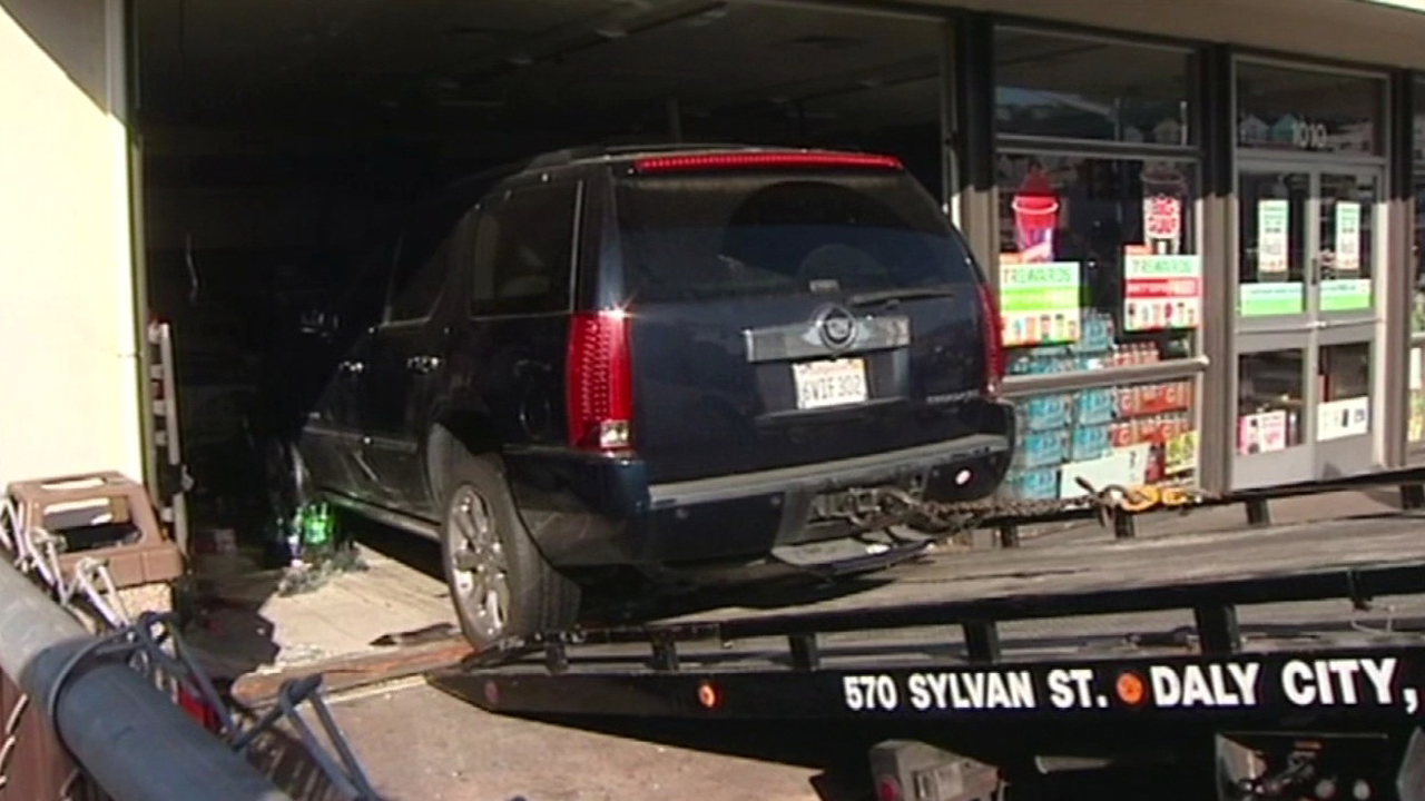 Car crash into 7-Eleven in Daly City