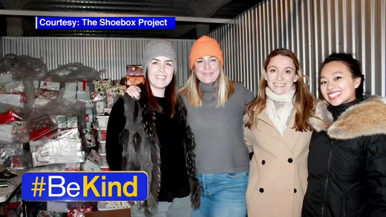 Be Kind: Volunteer group donates gift-filled shoe boxes to New York homeless women