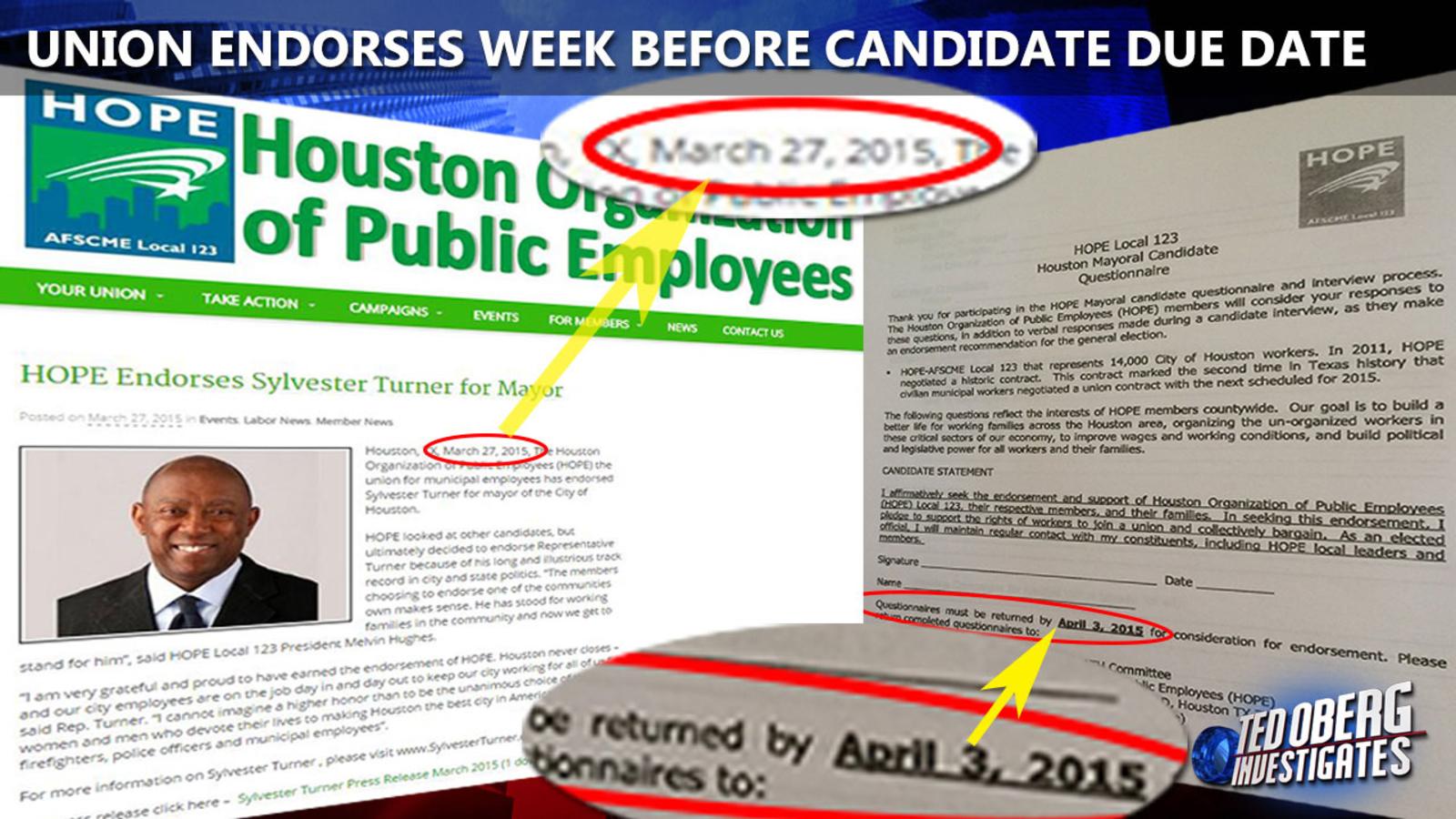 Timing of Houston public employee union endorsement