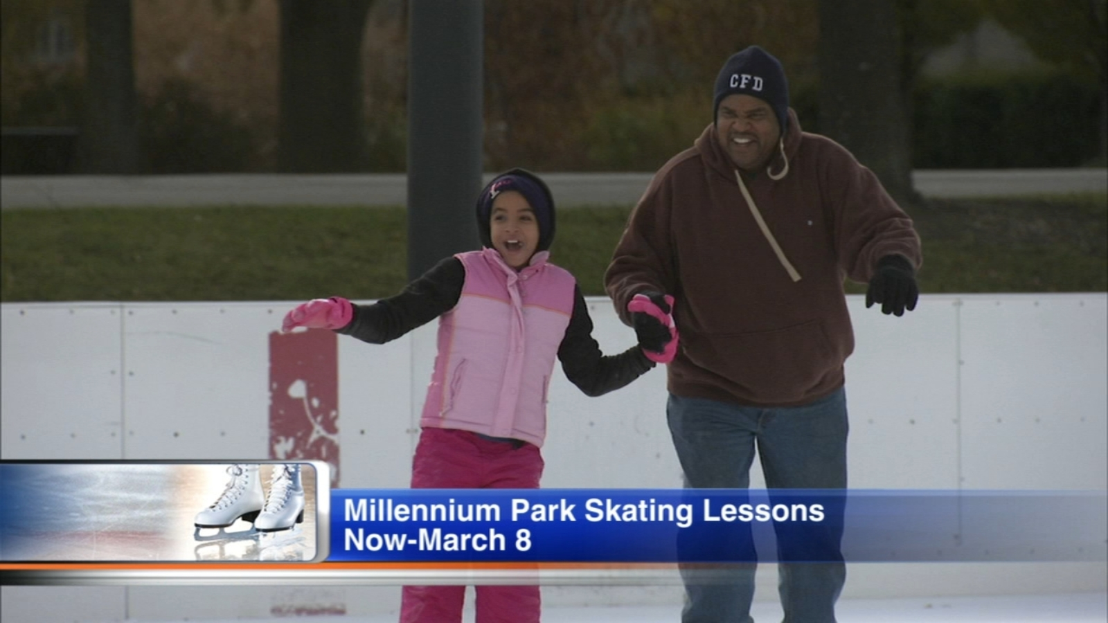 Learn How To Ice Skate With Free Lessons At Millennium Park S Mccormick Tribune Ice Rink Abc7 Chicago