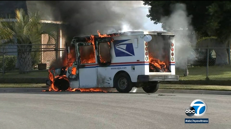 Mail Carrier Saves Packages After Truck Catches Fire On Christmas