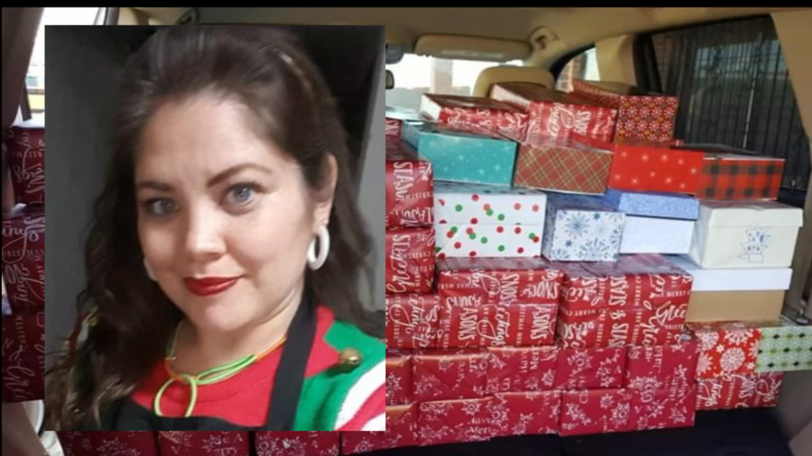 Texas Mother Delivering Christmas Presents To Children In Asylum