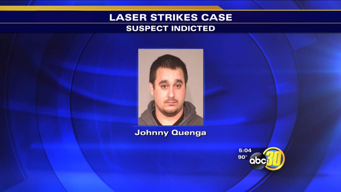Man indicted for pointing laser at Fresno police helicopter