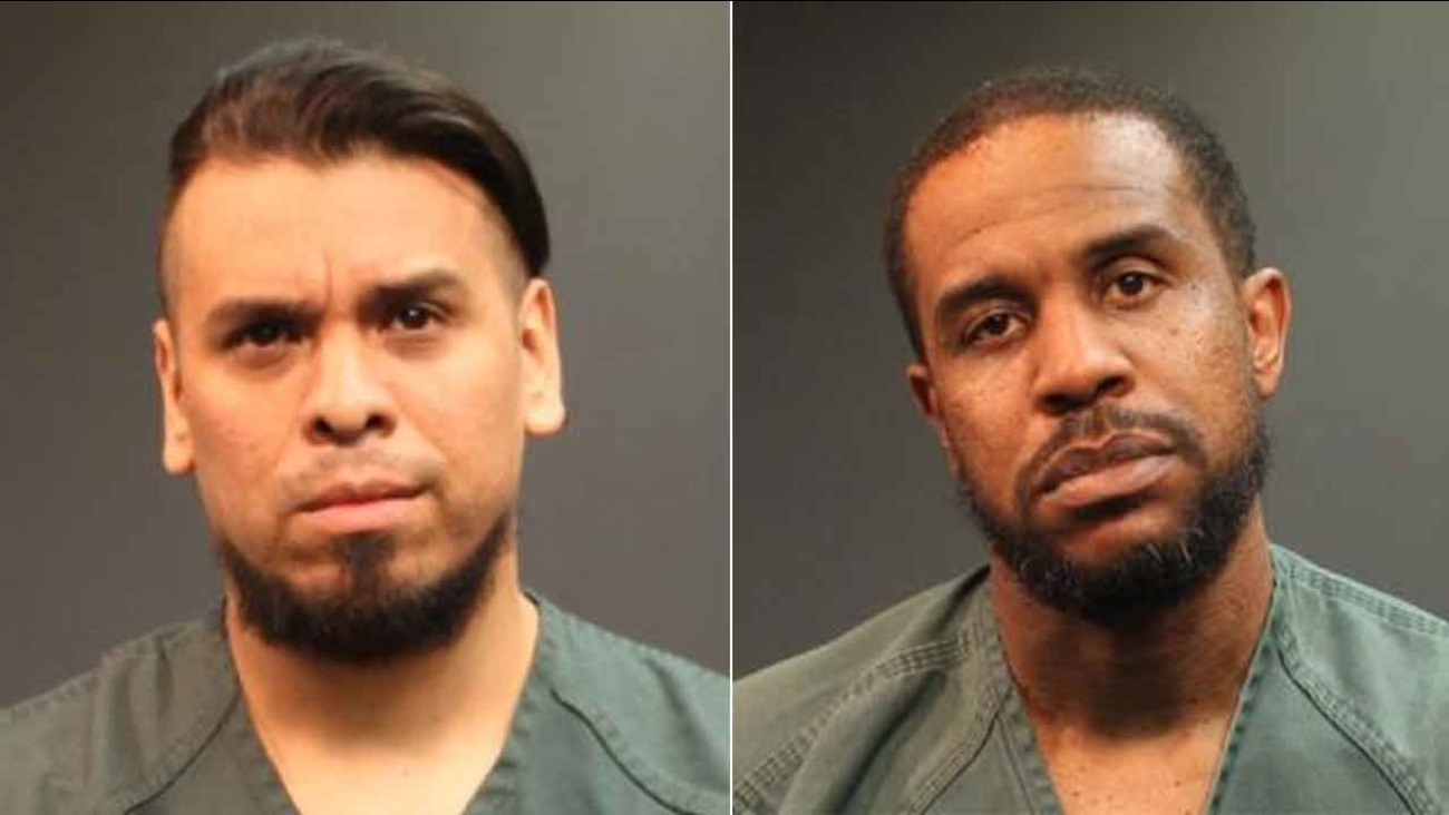 Felipe Andres Coronel, who performs as Immortal Technique, and Steven Alexander McDaniel are seen in these booking photos provided by the Santa Ana Police Department.