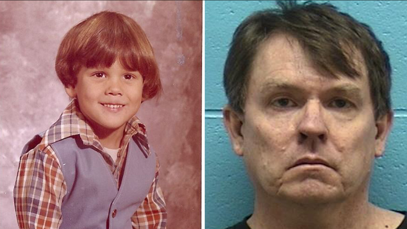 Kenneth Rasmuson is shown in his booking photo (right). The 6-year-old boy Rasmuson is accused of killing is shown (left).