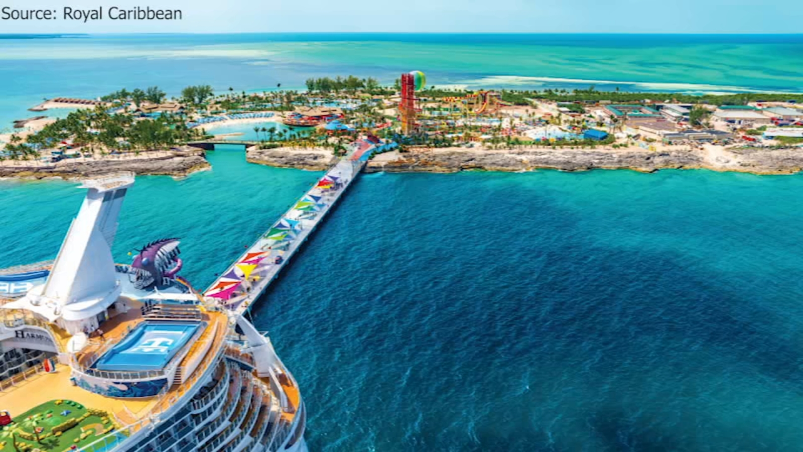 You can take this cruise from Galveston to private island in the Bahamas