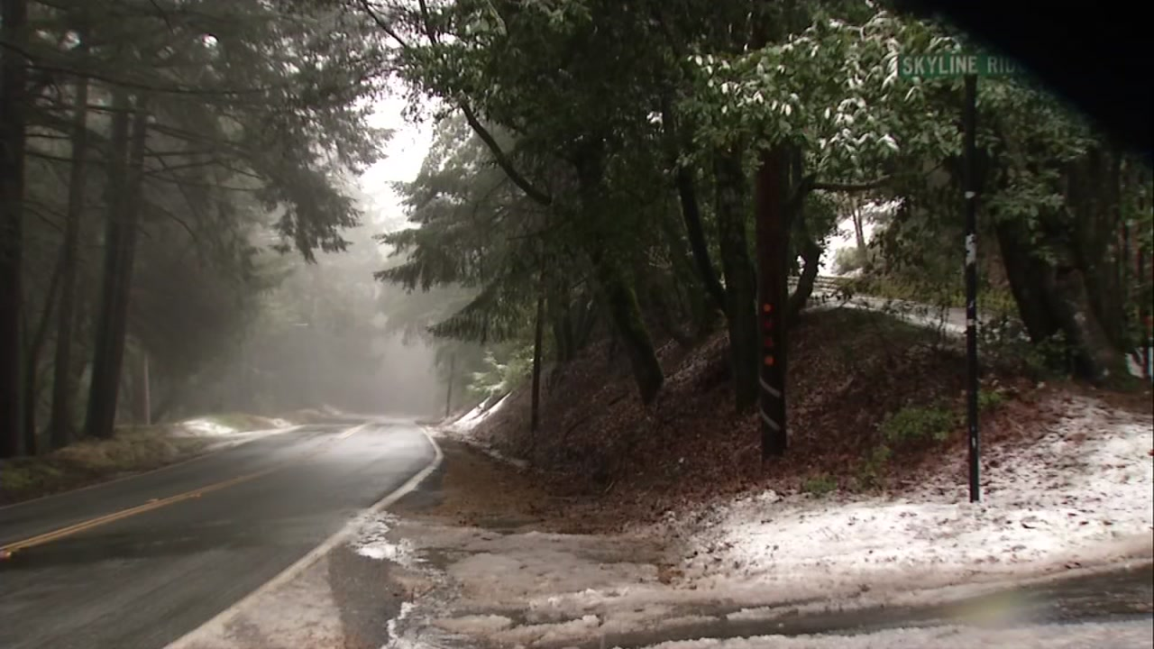 This is a photo of  Highway 35 on Skyline Boulevard on Jan. 16, 2020.