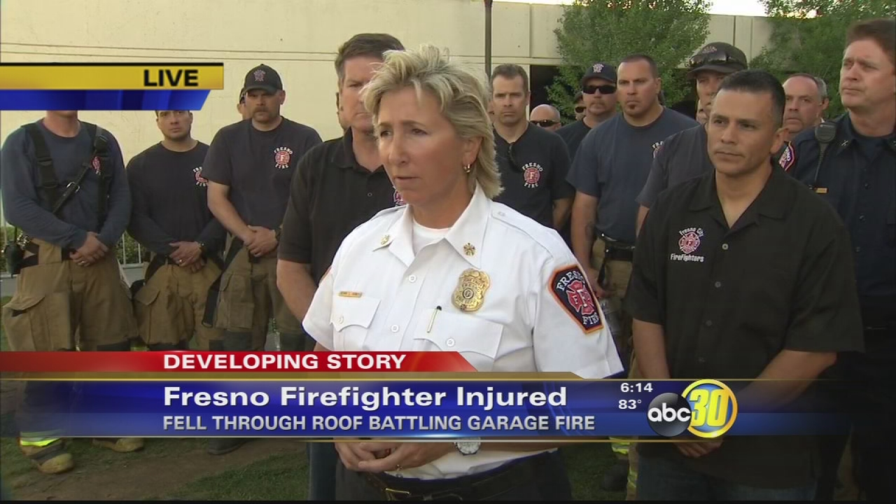 Firefighter Falls Through Roof Of Burning Home In Fresno