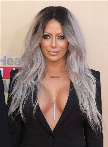 "<div class=""meta image-caption""><div class=""origin-logo origin-image none""><span>none</span></div><span class=""caption-text"">Aubrey O'Day arrives at the iHeartRadio Music Awards at The Shrine Auditorium on Sunday, March 29, 2015 (AP)</span></div>"