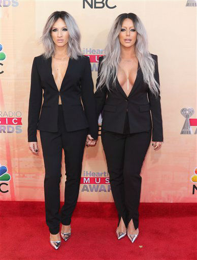 "<div class=""meta image-caption""><div class=""origin-logo origin-image none""><span>none</span></div><span class=""caption-text"">Shannon Bex, left, and Aubrey O'Day arrive at the iHeartRadio Music Awards at The Shrine Auditorium on Sunday, March 29, 2015 (AP)</span></div>"