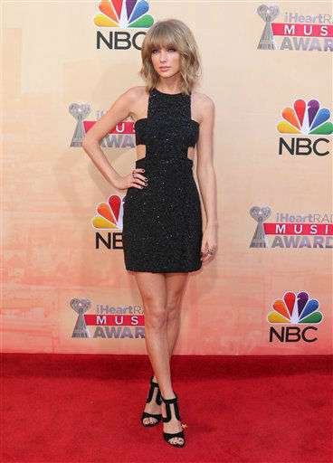 "<div class=""meta image-caption""><div class=""origin-logo origin-image none""><span>none</span></div><span class=""caption-text"">Taylor Swift arrives at the iHeartRadio Music Awards at The Shrine Auditorium on Sunday, March 29, 2015 (APAP)</span></div>"