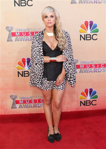 "<div class=""meta image-caption""><div class=""origin-logo origin-image none""><span>none</span></div><span class=""caption-text"">Katy Tiz arrives at the iHeartRadio Music Awards at The Shrine Auditorium on Sunday, March 29, 2015 (AP)</span></div>"