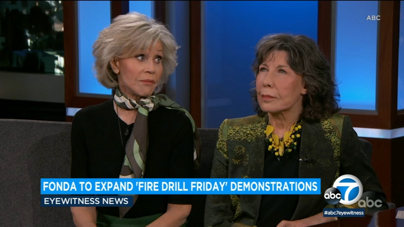 """Climate activist, actress Jane Fonda brings her """"Fire Drill Fridays"""" demonstrations to Los Angeles"""
