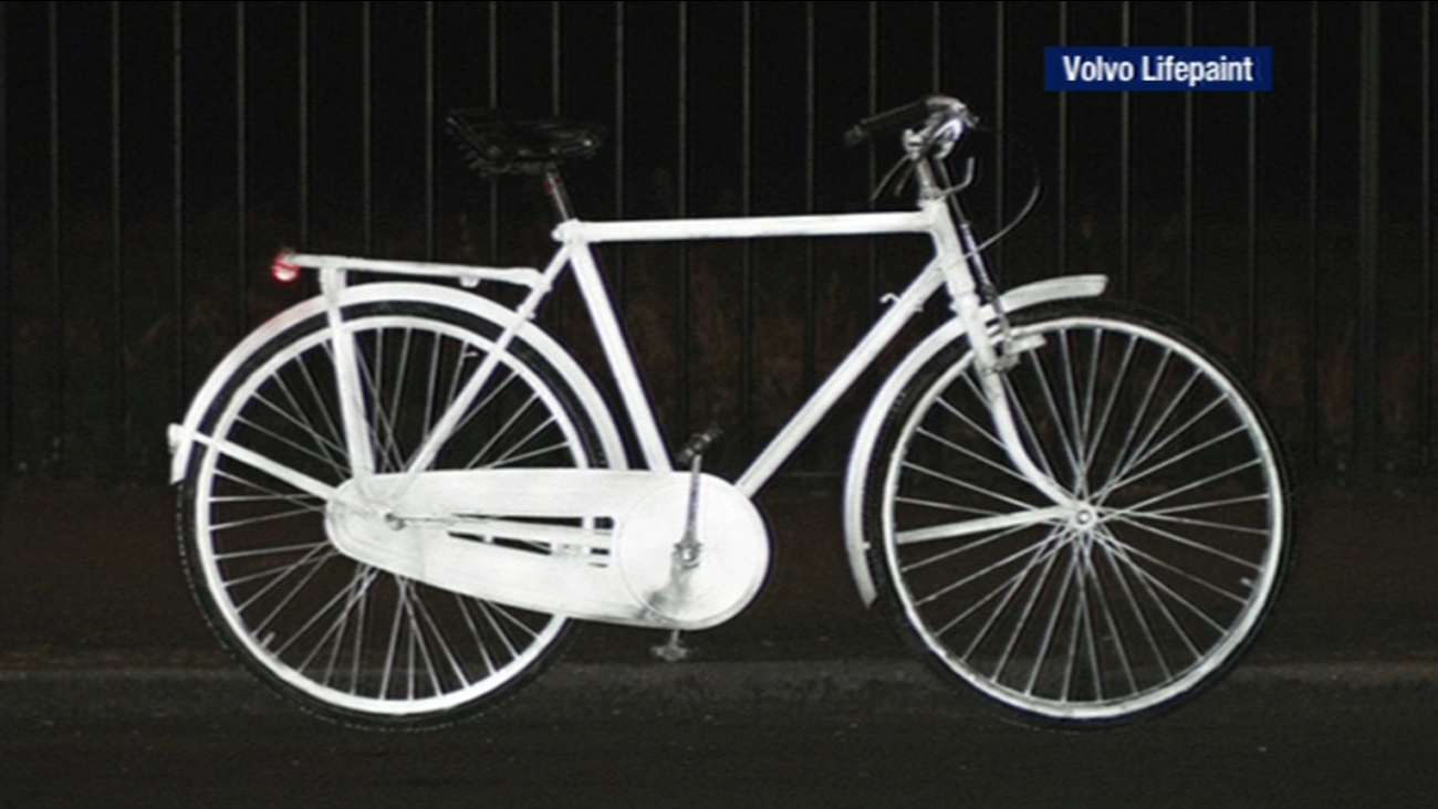Life Paint by Volvo on bicycles
