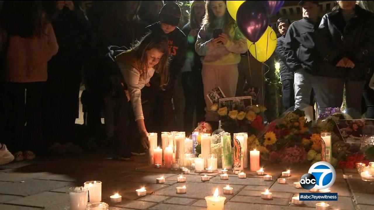 Community gathers near Kobe Bryant's family home in Newport Beach to mourn NBA star's death