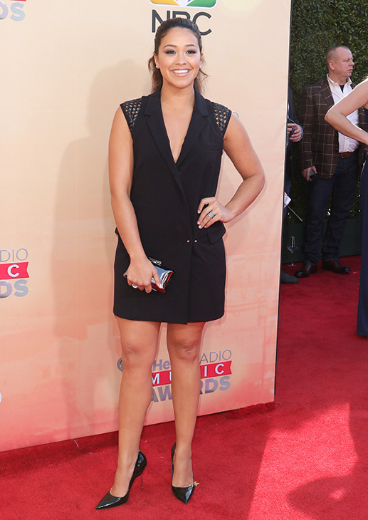 """<div class=""""meta image-caption""""><div class=""""origin-logo origin-image none""""><span>none</span></div><span class=""""caption-text"""">Gina Rodriguez arrives at the iHeartRadio Music Awards at The Shrine Auditorium on Sunday, March 29, 2015, in Los Angeles. (John Salangsang/Invision/AP)</span></div>"""