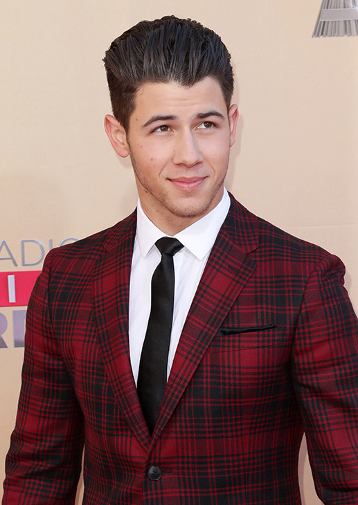 """<div class=""""meta image-caption""""><div class=""""origin-logo origin-image none""""><span>none</span></div><span class=""""caption-text"""">Nick Jonas arrives at the iHeartRadio Music Awards at The Shrine Auditorium on Sunday, March 29, 2015, in Los Angeles. (John Salangsang/Invision/AP)</span></div>"""