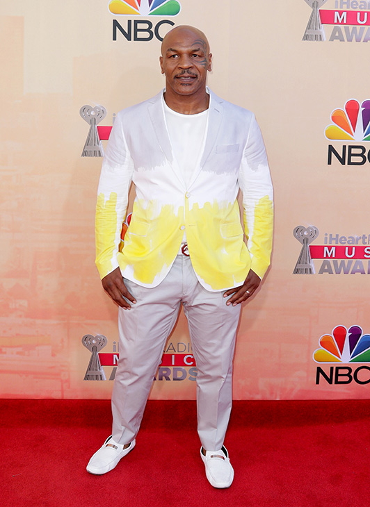"""<div class=""""meta image-caption""""><div class=""""origin-logo origin-image none""""><span>none</span></div><span class=""""caption-text"""">Mike Tyson arrives at the iHeartRadio Music Awards at The Shrine Auditorium on Sunday, March 29, 2015, in Los Angeles. (John Salangsang/Invision/AP)</span></div>"""