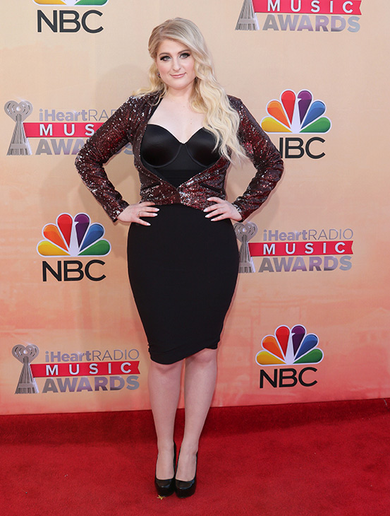 """<div class=""""meta image-caption""""><div class=""""origin-logo origin-image none""""><span>none</span></div><span class=""""caption-text"""">Meghan Trainor arrives at the iHeartRadio Music Awards at The Shrine Auditorium on Sunday, March 29, 2015, in Los Angeles. (John Salangsang/Invision/AP)</span></div>"""