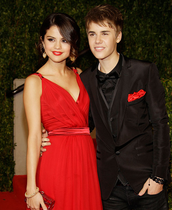 <div class='meta'><div class='origin-logo' data-origin='AP'></div><span class='caption-text' data-credit=''>Selena Gomez and Justin Bieber arrives at the Vanity Fair Oscar Party at the Sunset Tower in Los Angeles, Calif., Sunday, Feb. 27, 2011.</span></div>