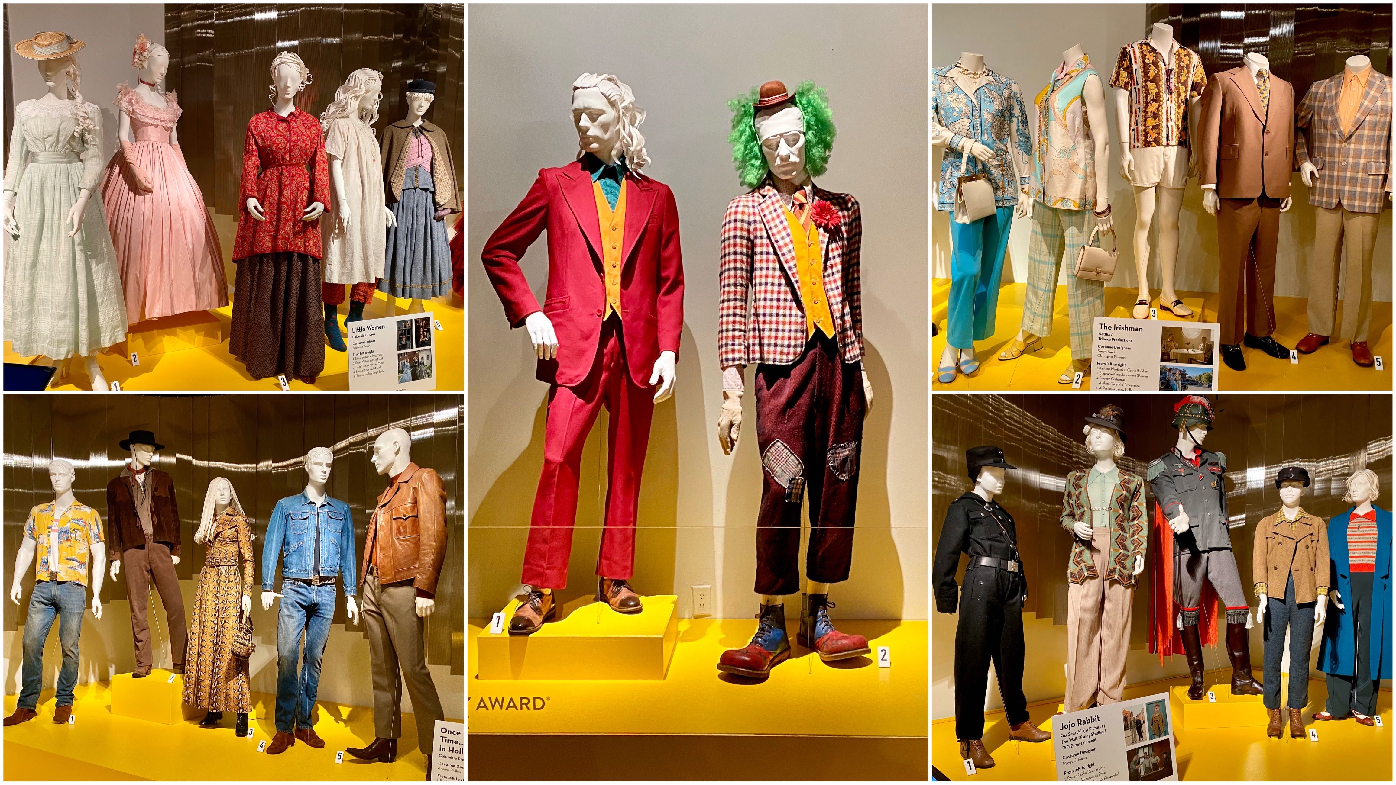 Oscars 2020 La Exhibit Gives Up Close Look At Costumes From Oscar Nominated Movies Including Joker Jojo Rabbit Other Films Abc11 Raleigh Durham