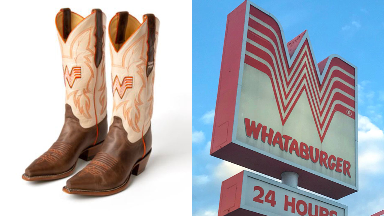 Yee haw! Whataburger slaps its logo on line of cowboy boots