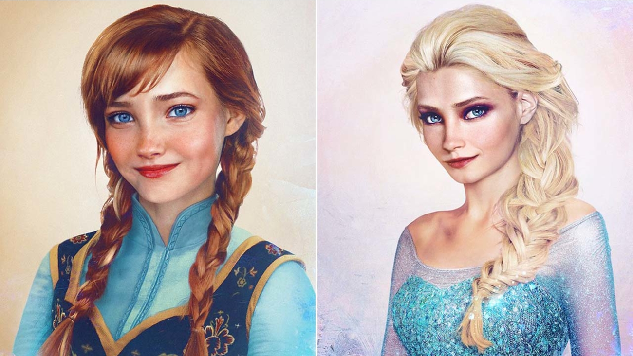 Anna And Elsa Join Artists Series Of Classic Disney Princesses To