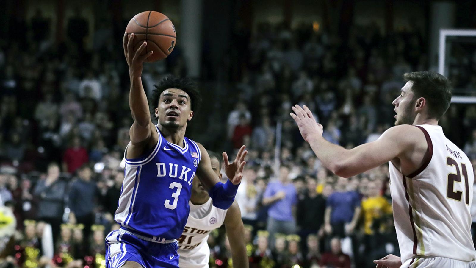 Sluggish No. 7 Duke rallies to beat Boston College 63-55