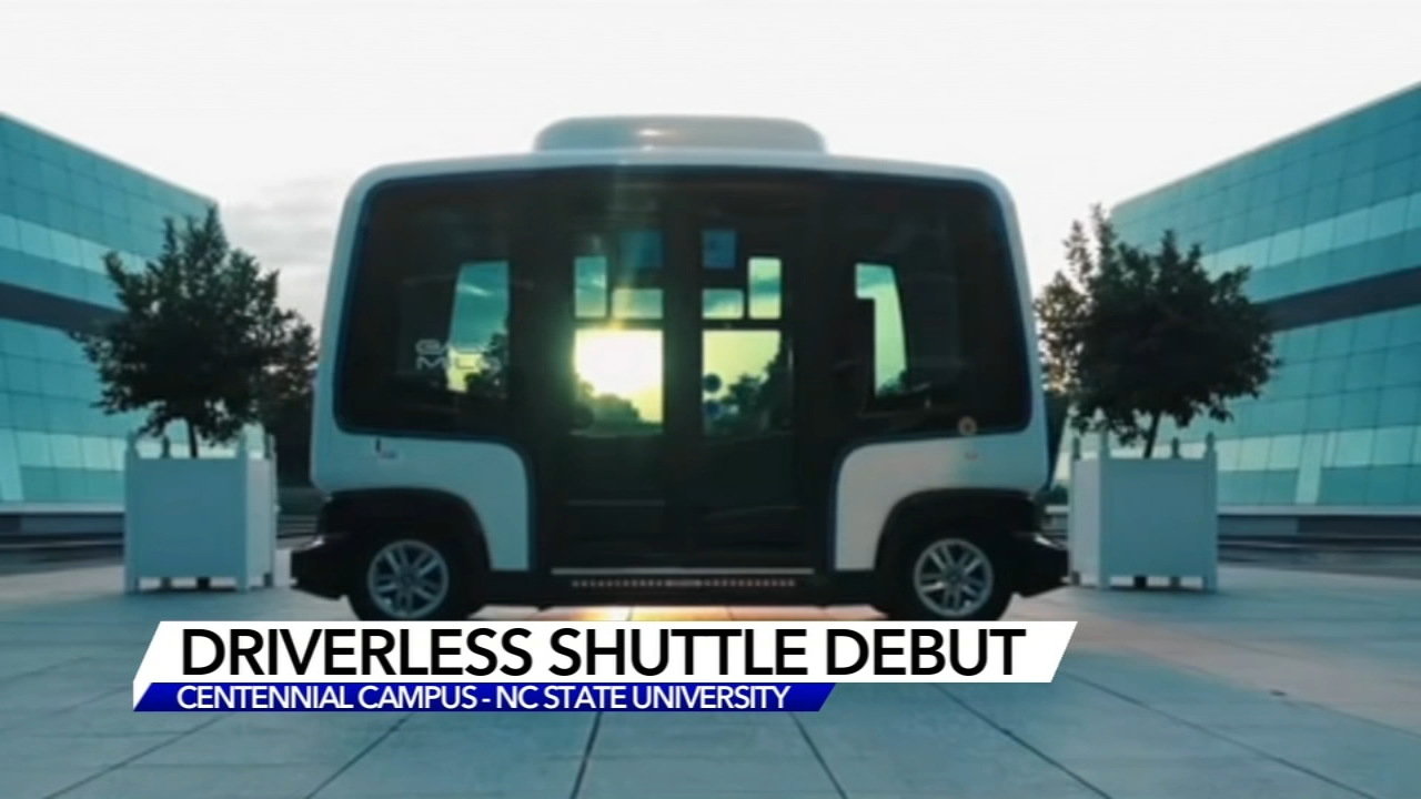 First driverless shuttle bus in North Carolina navigates NC State