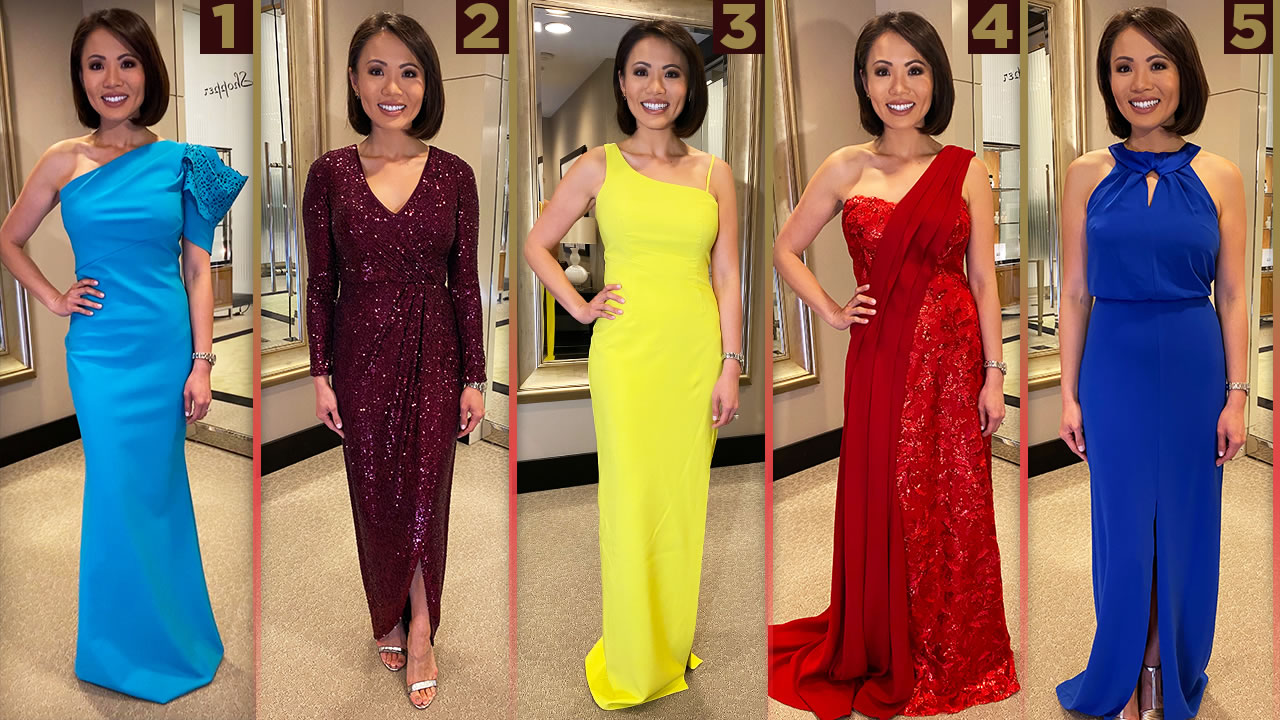 Since ABC7 news anchor, Dion Lim will be covering the awards in Hollywood, we sent her to Bloomingdale's to try on some Oscars gowns.
