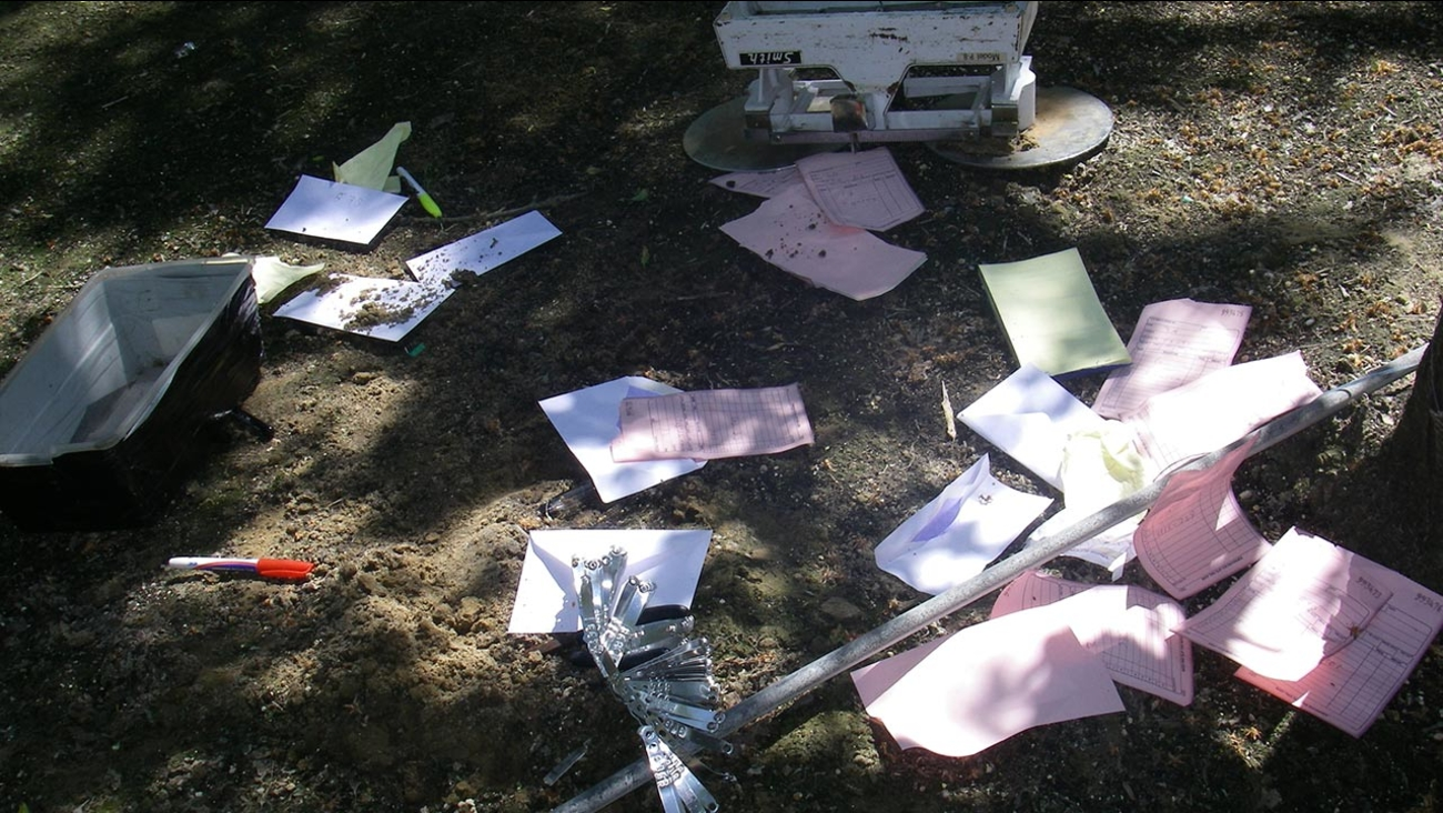 Authorities disrupted a cockfighting ring near Caruthers on Sunday, March 29, 2015.