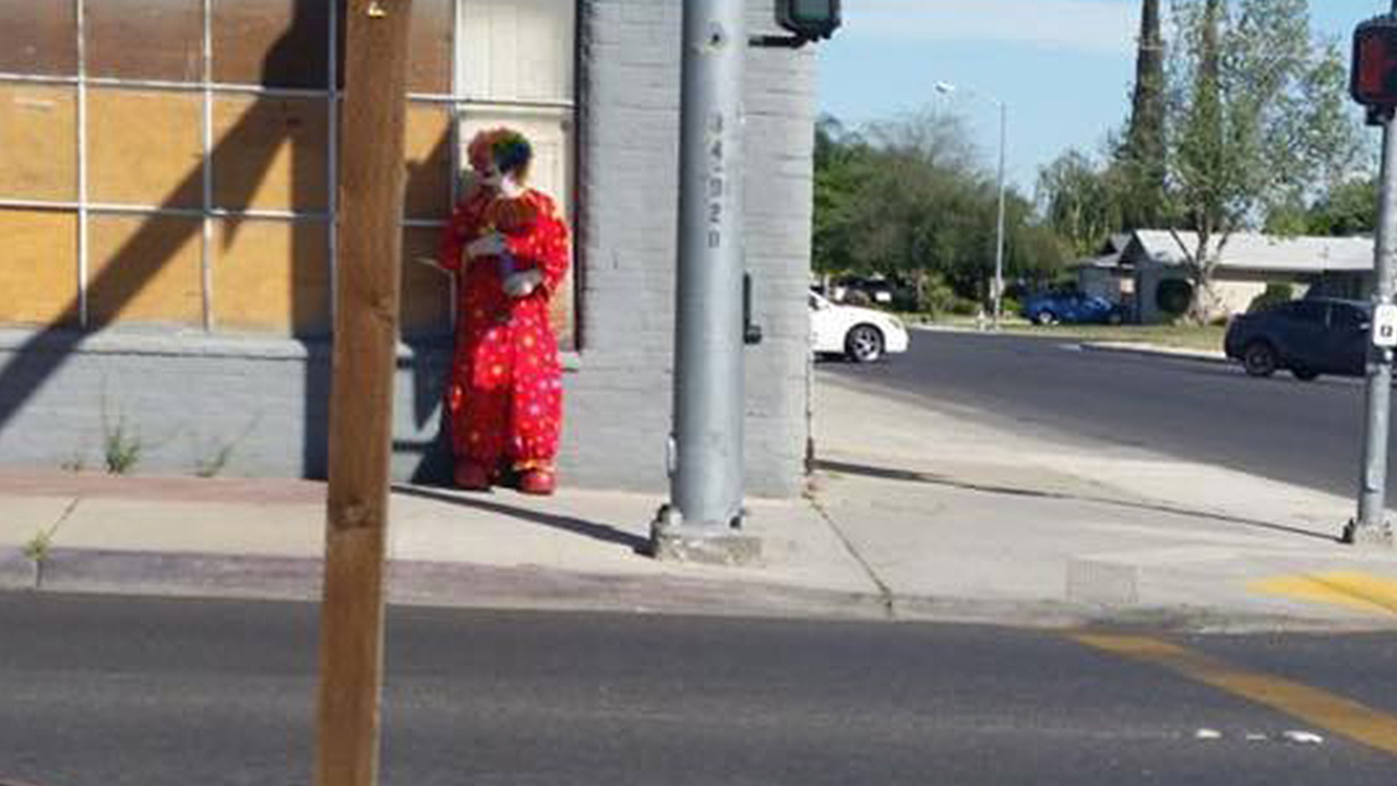 Clown spotted around city of Kerman