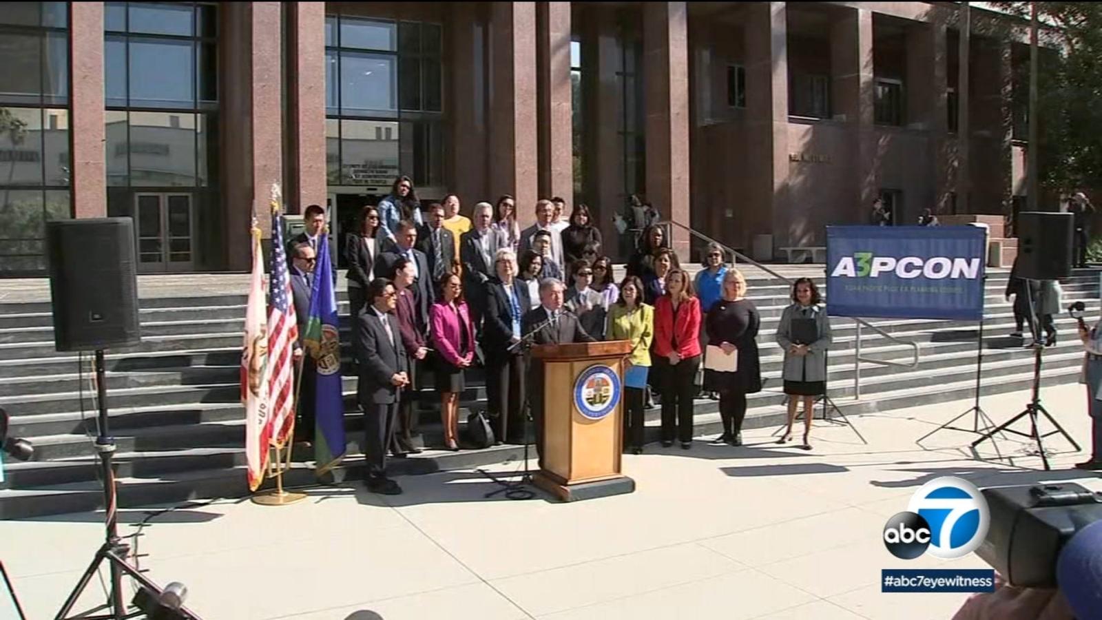 LA leaders speak out against anti-Asian racism amid coronavirus fears