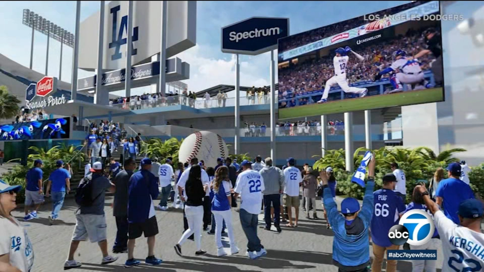 Dodger Stadium $100 million renovation continues ahead of Opening Day