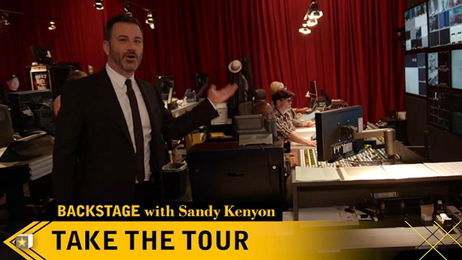 Backstage with Sandy Kenyon: Jimmy Kimmel's Hollywood studio