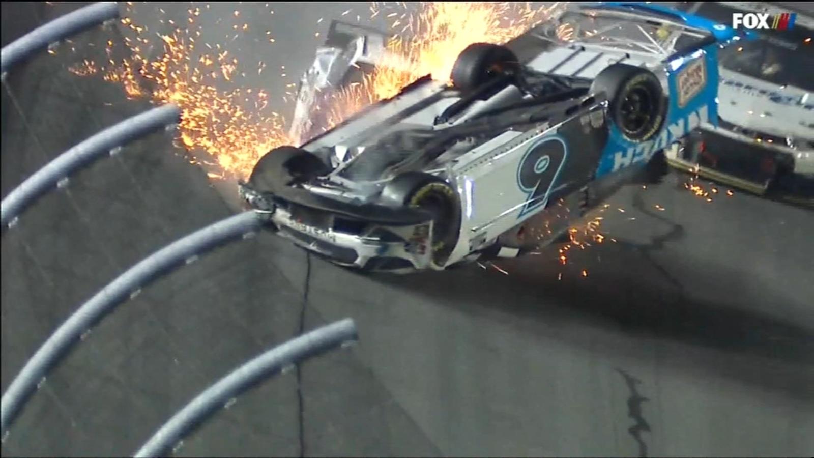 Daytona 500 crash sends Ryan Newman to hospital, injuries not life-threatening; Denny Hamlin wins race - WLS-TV