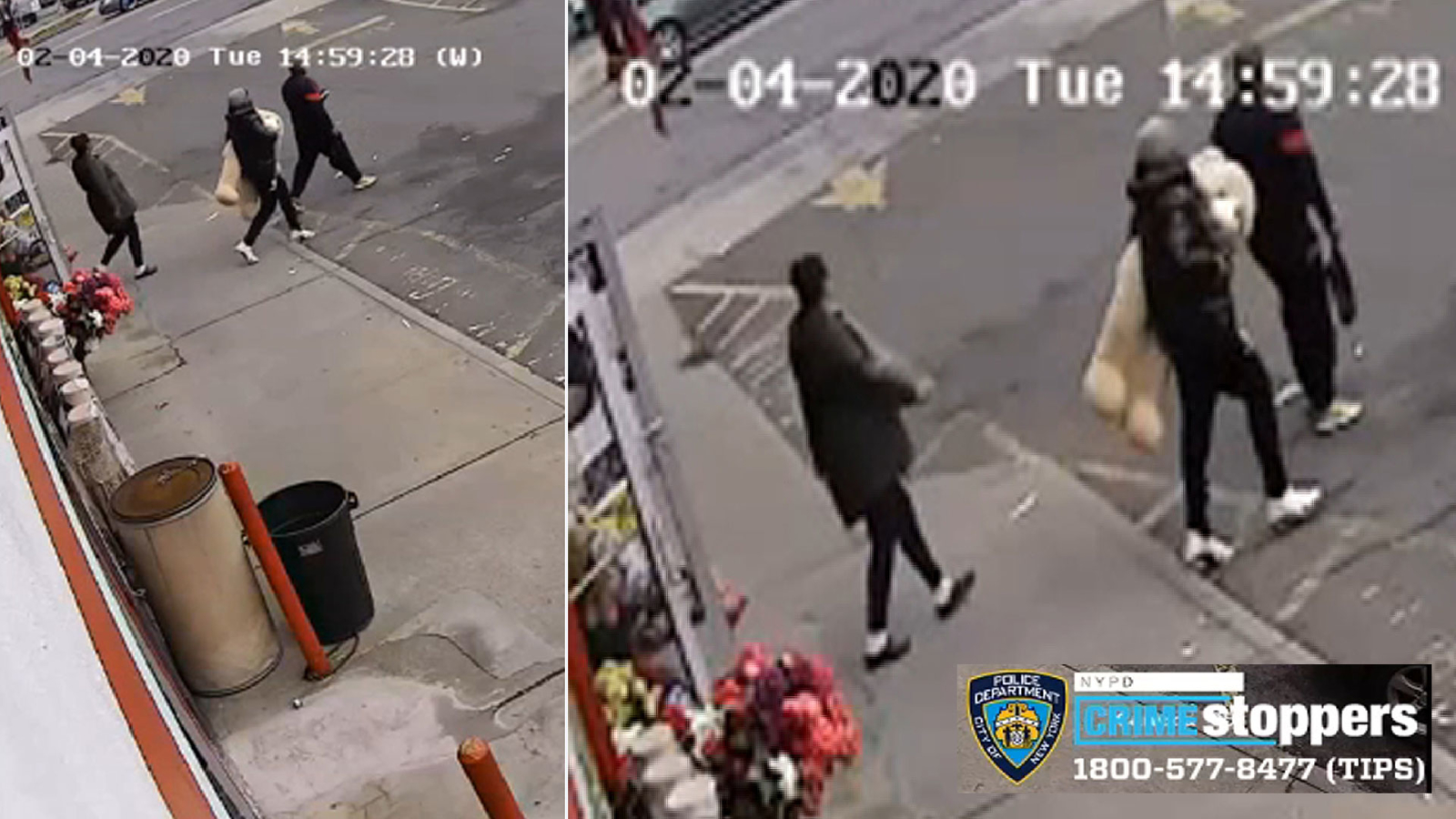 Video shows thieves who kicked worker, stole teddy bear in Brooklyn