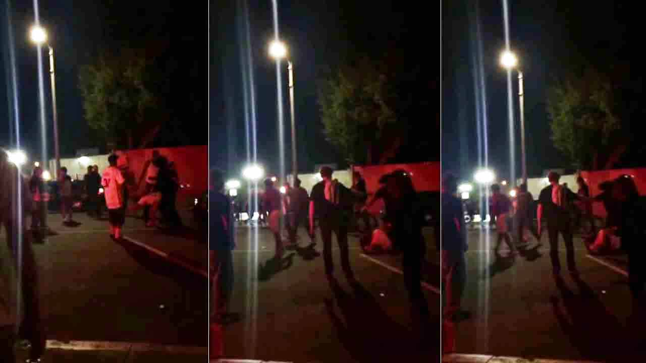 A woman was beaten with skateboards near Speedway and Windward Avenue in Venice Thursday, March 26, 2015.