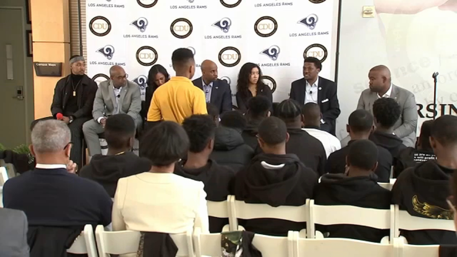Black History Month: Rams executives inspire students at Charles Drew University