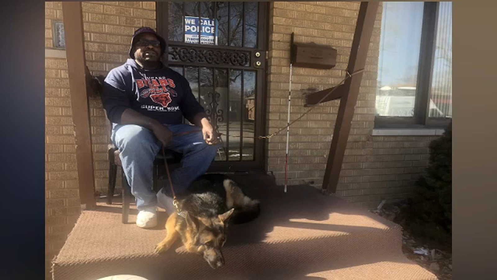 Blind man pleads for return of guide dog stolen from his backyard: 'He's a good boy'