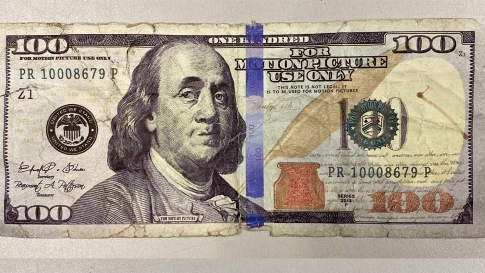 100 Bill At New Jersey Gas Station
