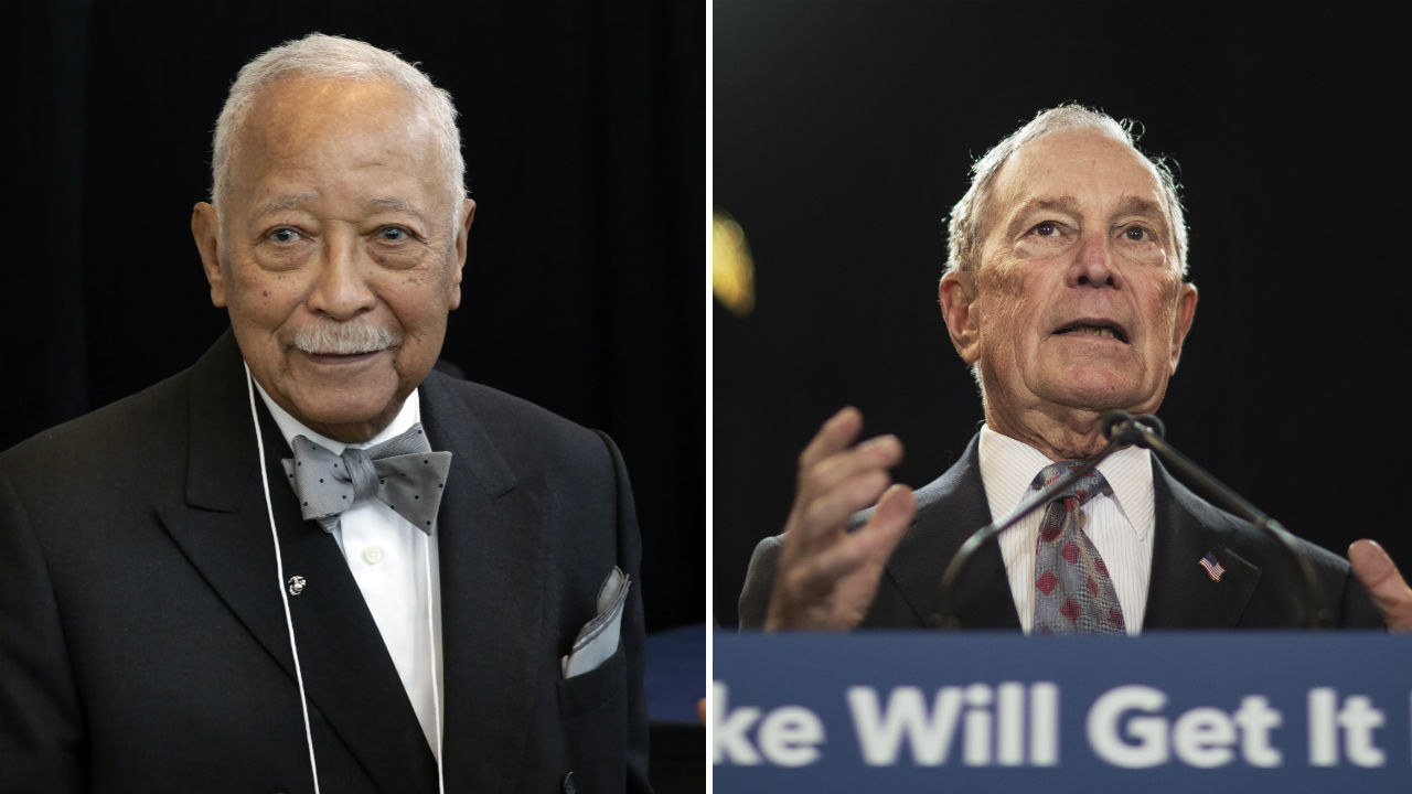 former new york city mayor david dinkins endorses michael bloomberg for president in 2020 election abc7 new york former new york city mayor david