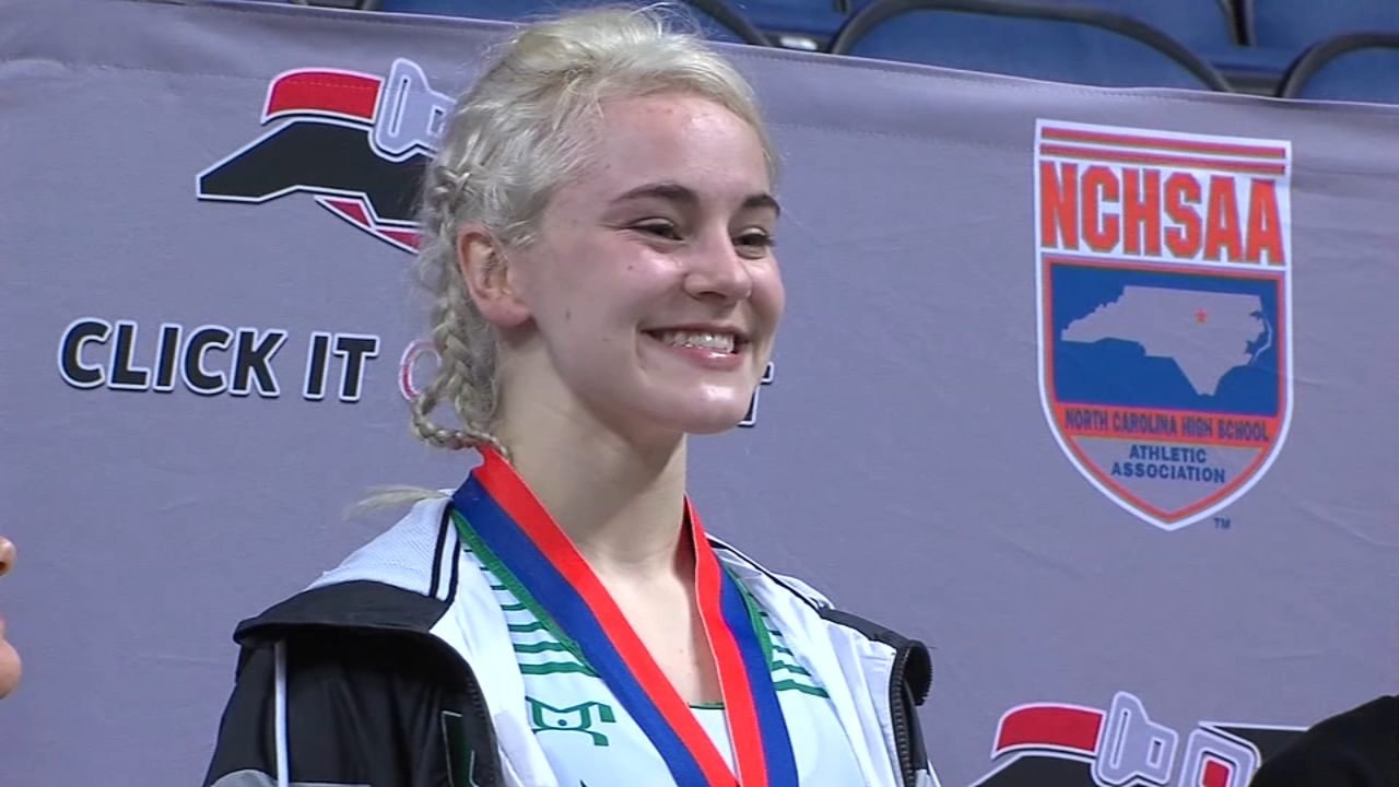 North Carolina girl wrestler dominates boys to become first ever female state champion