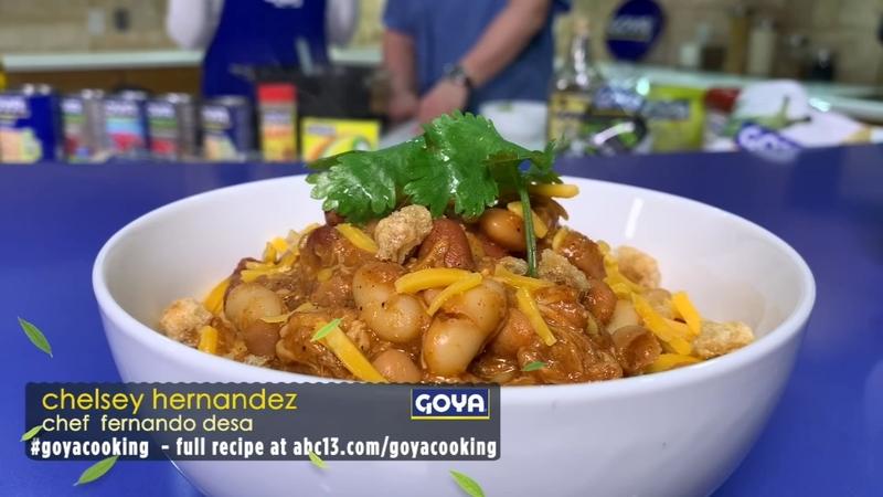 Chelsey Hernandez S Houston Rodeo Inspired Slow Cooker Shredded Bbq Chicken Chili Recipe Abc13 Houston