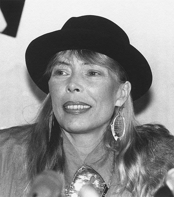 """<div class=""""meta image-caption""""><div class=""""origin-logo origin-image none""""><span>none</span></div><span class=""""caption-text"""">May 1988: Singer Joni Mitchell pauses during an interview in Toronto. (AP)</span></div>"""