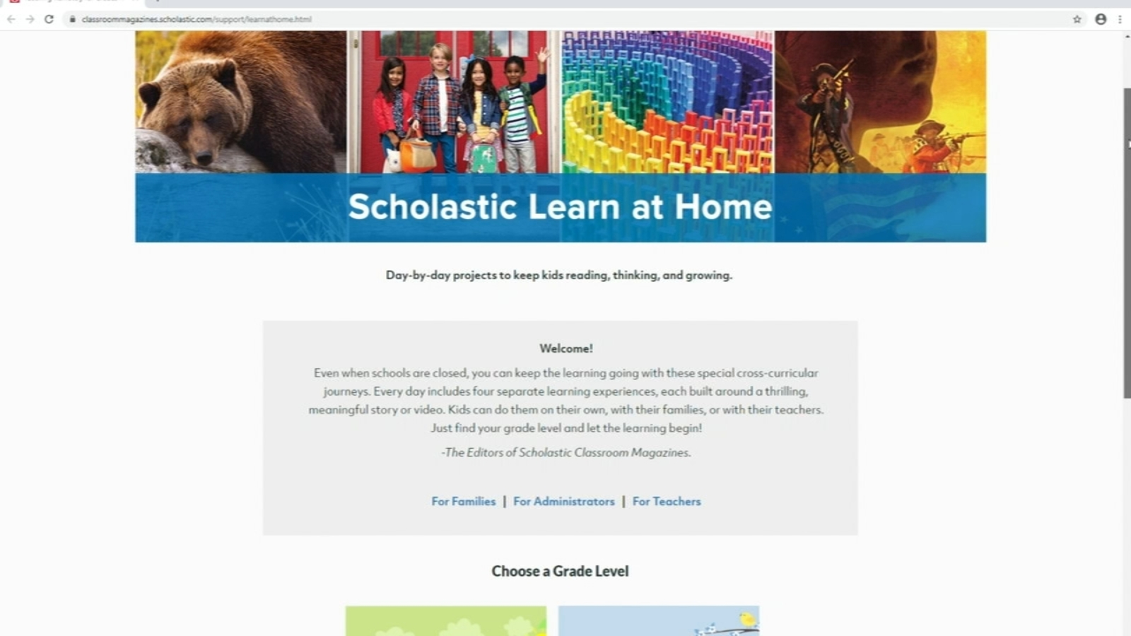 Scholastic Launches Learn At Home Website For Help During