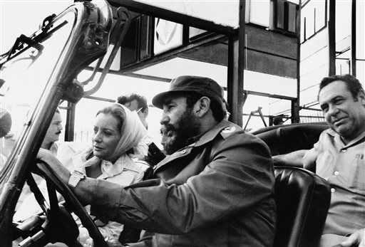 """<div class=""""meta image-caption""""><div class=""""origin-logo origin-image """"><span></span></div><span class=""""caption-text"""">ABC news correspondent Barbara Walters is driven on a sightseeing tour by Fidel Castro in this June 6, 1977 file photo taken in Cuba. (AP Photo)</span></div>"""