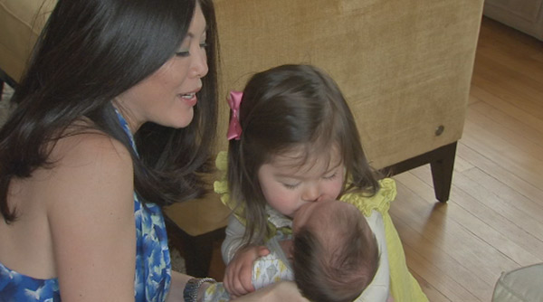 """<div class=""""meta image-caption""""><div class=""""origin-logo origin-image """"><span></span></div><span class=""""caption-text"""">Action News caught up with Nydia Han, her husband Dennis, baby Harrison and big sister Sabine!</span></div>"""